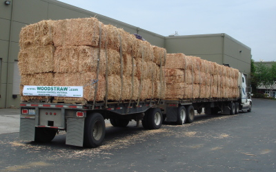 Truckload of WoodStraw® ECM
